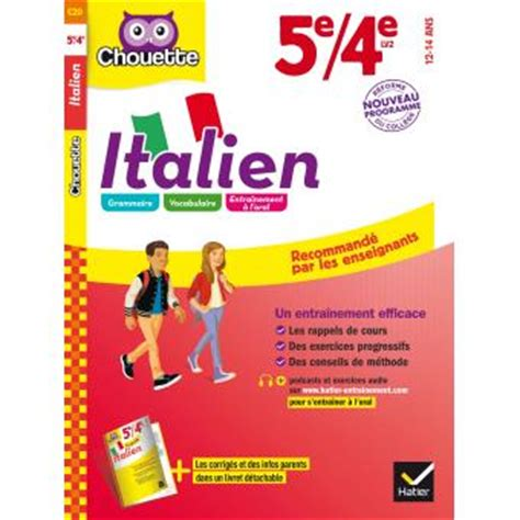 collection chouette italien 2218996685 chouette italien 5 232 me 4 232 me cycle 4 lv2 programme 2016
