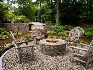 backyard fire pit landscaping ideas rustic style fire pits hgtv