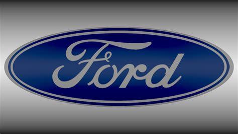 logo ford ford logo 3d model obj blend cgtrader com