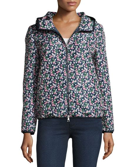 Floral Hooded Jacket moncler vive floral hooded jacket blue neiman
