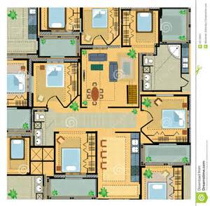 design house layout color plan house royalty free stock photography image 22179337