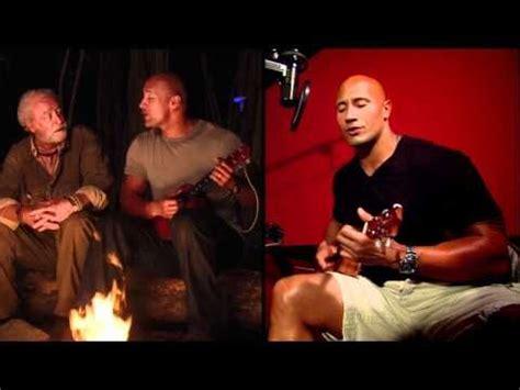 dwayne the rock johnson ukulele what a wonderful world journey 2 dwayne johnson sings quot what a wonderful world