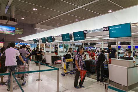 Narita M Xl cathay pacific check in counter at narita international airport tokyo japan editorial