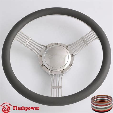 boat steering wheel with horn 14 billet steering wheels half wrap banjo ford fairlane