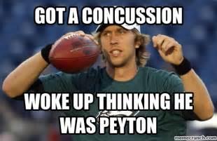 Nick Foles Meme - got a concussion