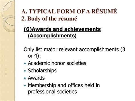 accomplishments to put on resume resume ideas