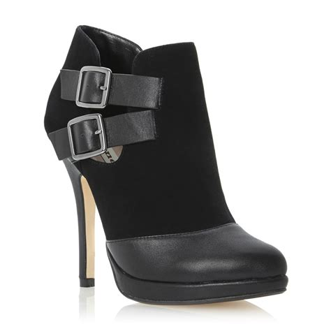 new dune nelly black womens leather stiletto ankle