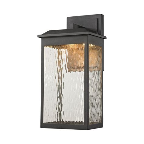 Home Depot Outdoor Wall Lighting 1 Light Matte Black Outdoor Wall Sconce Tn 60287 The Home Depot