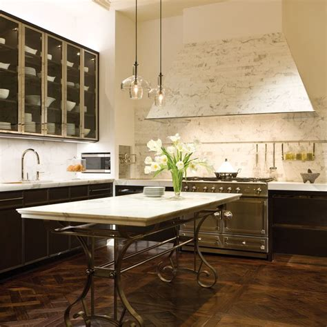 mick de giulio mick de giulio s marble tile clad hood home kitchen