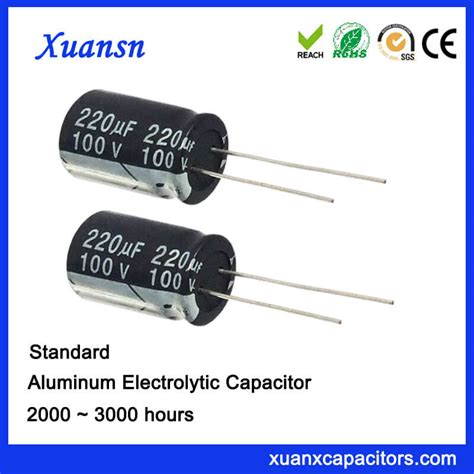 aluminum electrolytic capacitors 220uf 220uf 100v lead aluminum electrolytic capacitors