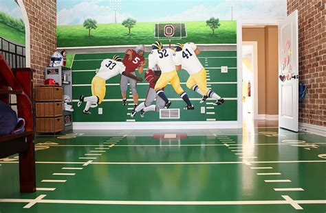 sports murals for bedrooms 47 really fun sports themed bedroom ideas home