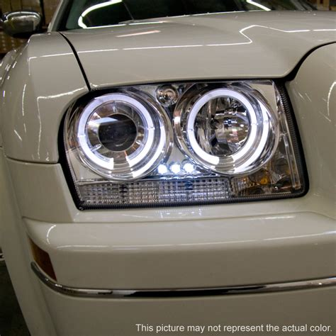 led lights for chrysler 300 smoked 05 07 chrysler 300 dual halo projector led