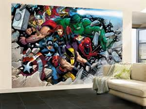 wall murals wall murals home decor ideas 187 archive for comics marvel heroes kids wallpaper great kidsbedrooms the children