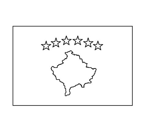 europe flag coloring page colored page kosovo painted by blini
