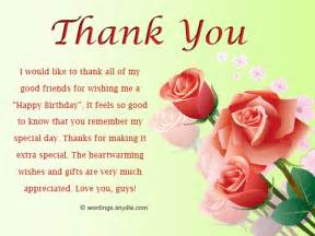 thank you message to facebook friends for birthday wishes