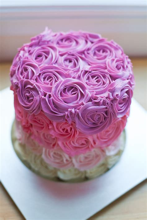 red roses pink ombre cake how to make a pink ombre rose cake