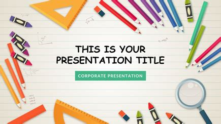 The Best Free Powerpoint Templates To Download In 2018 Graphicmama School Powerpoint Template