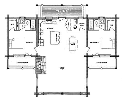 log cabin floor plans with basement log home plans with open floor plans log home plans with loft log home floor plan treesranch