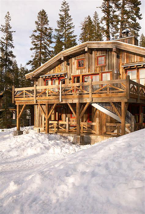 Ski Cabin Design by Ski Cabin With Rustic Interiors Home Bunch Interior
