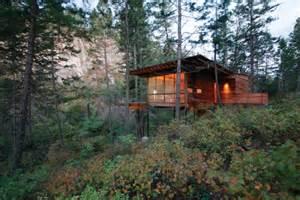 wooden forest cabin in montana decor advisor