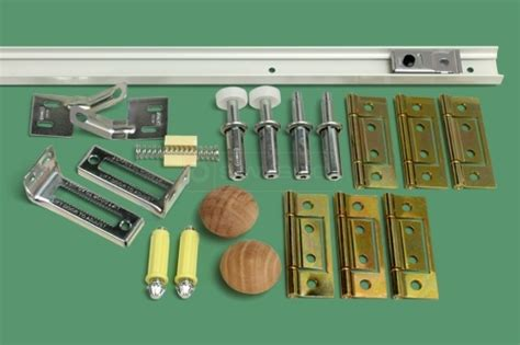 Closet Door Hardware Track 4 Bifold Door Track And Hardware Kit 4 Panel Hardware Doors And Folding Closet Doors