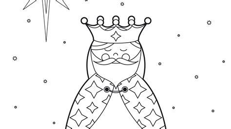 imagenes para colorear reyes magos dibujos de reyes magos para colorear 1