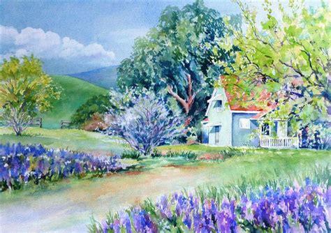 spring paint buy original art by catherine mccargar watercolor