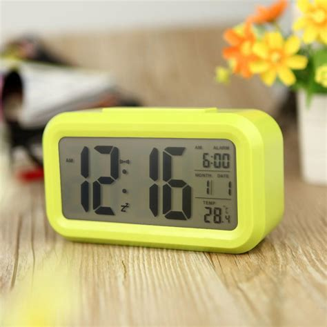 bedroom alarm clock modern bedroom abs battery powered digital electronic led