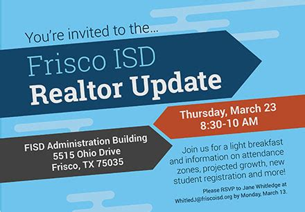 Frisco Isd Email Search Frisco Isd To Host Realtor Update On March 23