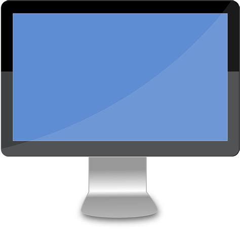 free caign monitor templates free vector graphic desktop lcd computer monitor