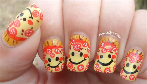 decoracion de uñas tutorial smiley pepperoni pizza nail art watch hd nail tutorial