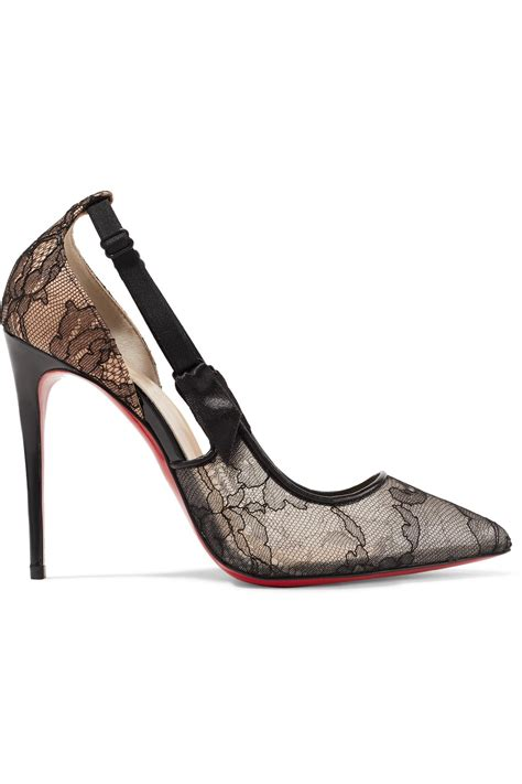 100 At The Net A Porter Sale by Lyst Christian Louboutin Jeanbi 100 Satin And Patent