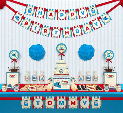 printable train party decorations choo choo thomas the train birthday party package