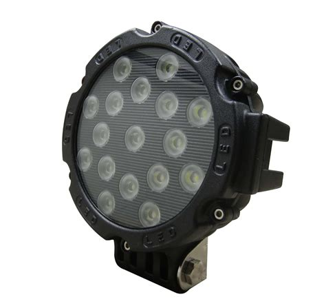round led work light 7 inch 51 watt tuff led lights