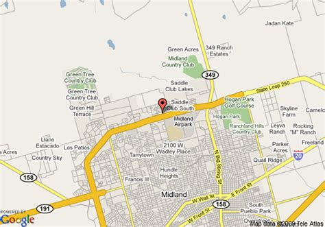 map of midland texas and surrounding areas map of comfort suites midland midland