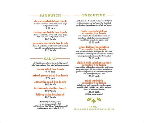 menu pdf template 29 catering menu templates free sle exle format