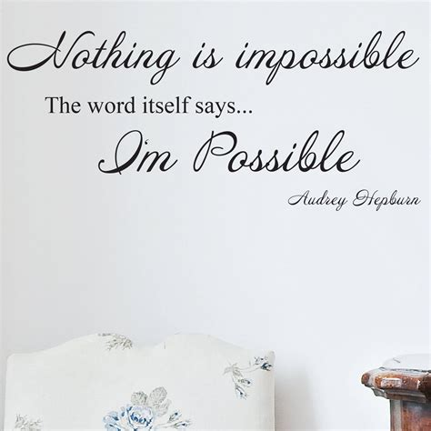 Audrey Hepburn Wall Sticker audrey hepburn nothing is impossible wall sticker