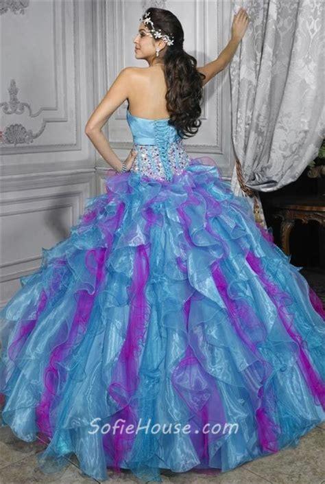 blue and purple quinceanera dresses pretty gown purple blue organza quinceanera dress