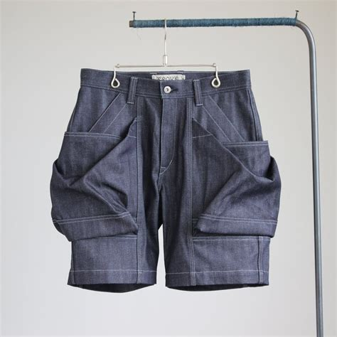 Big Pocket Shorts trove big pocket shorts denim indigo sumally サマリー