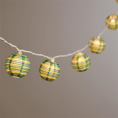 Paper String - stripe paper string lights world market