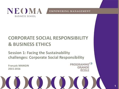 Mba In Corporate Social Responsibility by Csr Origin Stakes And Strategies