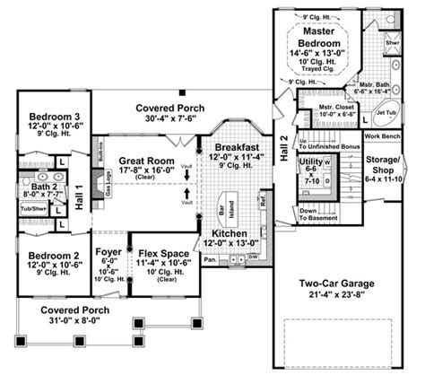 Craftsman Cottage Floor Plans Bungalow Craftsman Traditional House Plan 59201