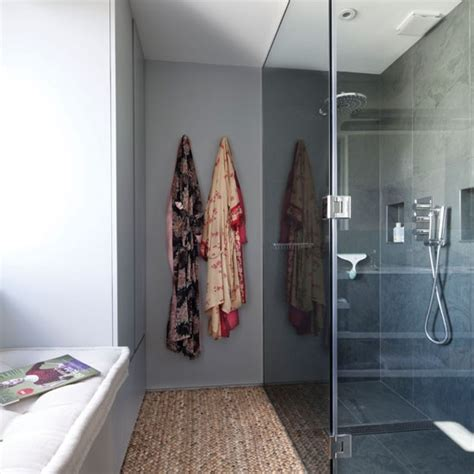 modern small shower room designs  grasscloth wallpaper