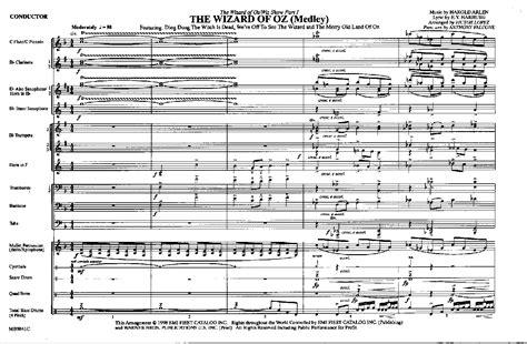 wizard music wizard of oz medley by lopez v j w pepper sheet music