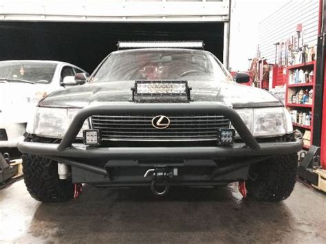lifted lexus sedan a lexus ls400 saloon is ready for some off road fun revved