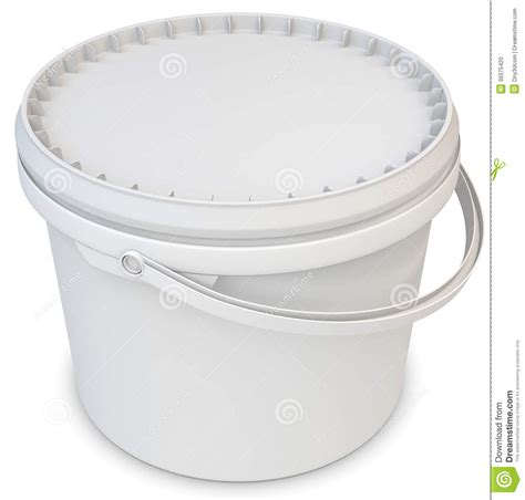 how to paint a l 3d blank white tub paint plastic container stock