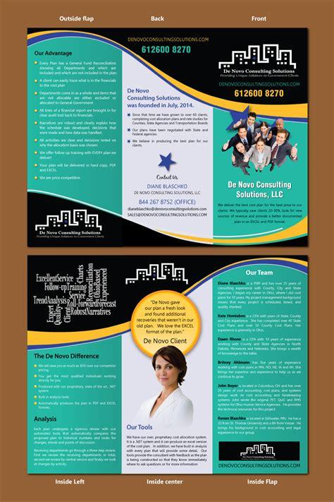 leaflet design charges bold colorful flyer design for de novo consulting