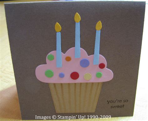 how to make a easy birthday card birthday cupcake card sting with