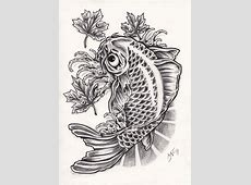 Fish Tattoos Designs, Ideas and Meaning | Tattoos For You Japanese Maple Leaf Drawing