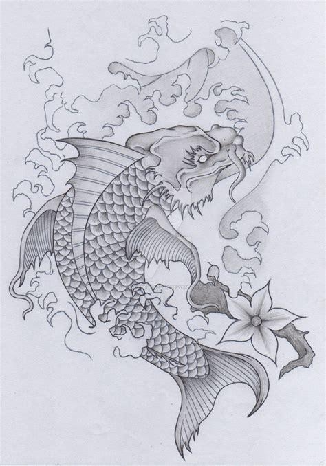 japanese tattoo koi dragon japanese koi dragon tattoo skull samurai pt 2 by